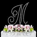 Elegance by Carbonneau M-Renaissance-Silver Renaissance ~ Swarovski Crystal Wedding Cake Topper ~ Silver Letter M