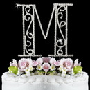 Elegance by Carbonneau M-Roman Romanesque ~ Swarovski Crystal Wedding Cake Topper ~ Letter M