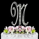 Elegance by Carbonneau M-Vintage Vintage ~ Swarovski Crystal Wedding Cake Topper ~ Letter M