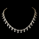 Elegance by Carbonneau N-2346-Gold-Clear Gold Chain Drop Cubic Zirconia Necklace N 2346
