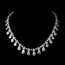 Elegance by Carbonneau N-2404 Silver Clear Necklace 2404