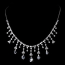 Elegance by Carbonneau N-3628-Silver-Clear Necklace 3628 Silver Clear