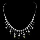 Elegance by Carbonneau N-3628-Silver-Olive Necklace 3628 Silver Olive