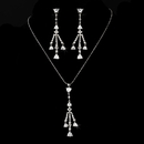Elegance by Carbonneau N-3811-E-3809-AS-Clear Necklace Earring Set N 3811 E 3809 Silver Clear