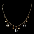Elegance by Carbonneau N-8133-Gold-Light-Brown Necklace 8133 Gold Light Brown