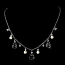 Elegance by Carbonneau N-8133-Silver-Clear Necklace 8133 Silver Clear