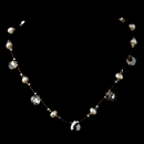 Elegance by Carbonneau N-8136-Silver-Light-Brown Necklace 8136 Silver Light Brown