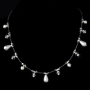 Elegance by Carbonneau N-8351-White Necklace 8351 White