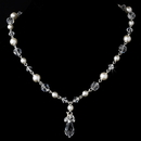 Elegance by Carbonneau N-8353-White Necklace 8353 White