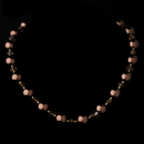 Elegance by Carbonneau N-8355-Gold-Brown Necklace 8355 Gold Brown