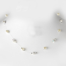 Elegance by Carbonneau N-8364-Silver-Ivory Necklace 8364-Silver-Ivory
