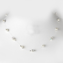 Elegance by Carbonneau N-8364-Silver-White Necklace 8364-Silver-White