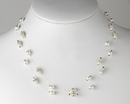 Elegance by Carbonneau N-8366-White Necklace 8366 White