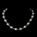 Elegance by Carbonneau N-8372-White Necklace 8372 White