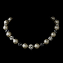 Elegance by Carbonneau N-8425-Silver-Ivory Necklace 8425 Silver Ivory