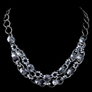 Elegance by Carbonneau N-9515-H-Smoke Hematite Smoke Multi Faceted Rondelle Swarovski Crystal Bead Necklace