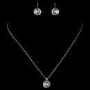 Elegance by Carbonneau N-9600-E-9600-G-CL Gold Clear Round CZ Crystal Jewelry Set 9600