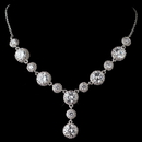 Elegance by Carbonneau N-9620-RD-CL Rhodium Clear CZ Round Crystal Necklace 9620