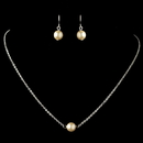 Elegance by Carbonneau N-9715-E-9715-S-IV Silver Ivory Pearl Jewelry Set 9715