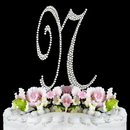 Elegance by Carbonneau N-Completely-Covered Completely Covered ~ Swarovski Crystal Wedding Cake Topper ~ Letter N