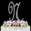 Elegance by Carbonneau N-Vintage Vintage ~ Swarovski Crystal Wedding Cake Topper ~ Letter N