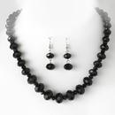 Elegance by Carbonneau NE-1017-black Necklace Earring Set 1017 Black