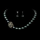 Elegance by Carbonneau NE-1023-Hematite Necklace Earring Set 1023 Hematite