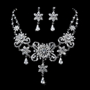 Elegance by Carbonneau NE-1025-AS-Clear Elegant Vintage Crystal Collar Jewelry Set NE 1025