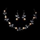 Elegance by Carbonneau NE-1043-Light-RosE Necklace Earring Set 1043 Light Rose