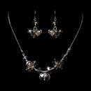 Elegance by Carbonneau NE-1045-Silver-Light-Topaz Necklace Earring Set 1045 Silver Light Topaz