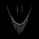 Elegance by Carbonneau NE-3126-Silver-Amethyst Necklace Earring Set 3126 Silver Amethyst
