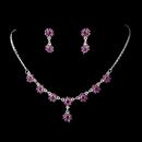 Elegance by Carbonneau NE-331-Purple Necklace Earring Set 331 Purple