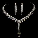 Elegance by Carbonneau NE-377-Silver-AB Necklace Earring Set 377 Silver AB