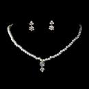 Elegance by Carbonneau NE-402-Gold-Ivory Gold Ivory Child's Rhinestone Flower & Pearl Jewelry Set NE 402
