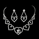 Elegance by Carbonneau NE-460-Silver-Clear-16 Matching Sweet 16 Rhinestone Necklace Earring Jewelry Set NE 460 Silver