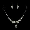 Elegance by Carbonneau NE-72023-S-Clear Silver Clear Rhinestone Necklace & Earrings Jewelry Set 72023