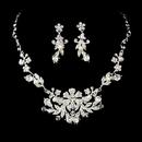 Elegance by Carbonneau NE-7211 Glamorous Silver White Pearl Jewelry Set NE 7211