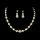 Elegance by Carbonneau NE-815-Ivory Necklace Earring Set NE 815 ( Ivory or White )