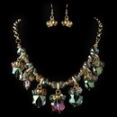 Elegance by Carbonneau NE-82047-G-Vitral Gold Vitral Rondelle Crystal Beaded Fashion Jewelry Set 82047