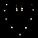 Elegance by Carbonneau NE-8213-Silver Necklace Earring Set 8213 Silver Ivory