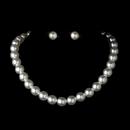 Elegance by Carbonneau NE-8371-White Necklace Earring Set NE 8371 White