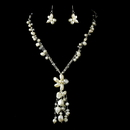 Elegance by Carbonneau NE-8384-Silver-White N 8384 Silver White Necklace