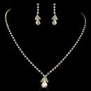 Elegance by Carbonneau NE-8385-G-CL Gold Clear Teardrop Rhinestone Jewelry Set 8385