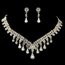 Elegance by Carbonneau NE-907-G-CL Gold Clear Teardrop Rhinestone Flower Jewelry Set