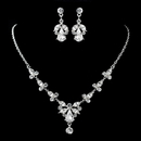 Elegance by Carbonneau NE-9691-S-Clear Silver Clear Necklace & Earrings Jewelry Set 9691