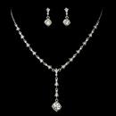 Elegance by Carbonneau NE-994-SilverClear Dreamy Antique Silver Clear Crystal Necklace & Earring Set 994