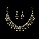Elegance by Carbonneau NE-999-Gold Necklace Earring Set NE 999 Gold