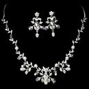 Elegance by Carbonneau NE7208silver Silver Clear Bridal Jewelry Set NE 7208