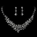 Elegance by Carbonneau NE7602 Silver Clear Swarovski Crystal Necklace & Earring Set NE 7602