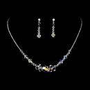 Elegance by Carbonneau NE8121-SilverAB Silver AB Swarovski Crystal Bridal Jewelry Set NE 8121